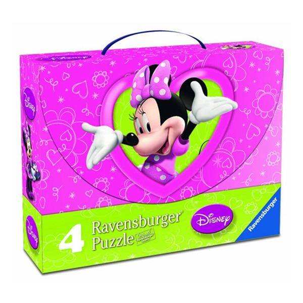 Puzzle minnie mouse, 2x25 piese/2x36 piese