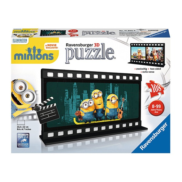 Puzzle 3d minions diafilm, 108 piese