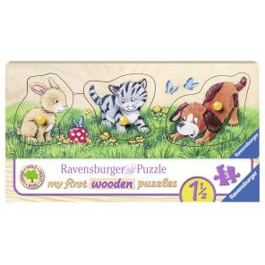 Jucarii Ravensburger - PUZZLE DIN LEMN ANIMALUTE, 3 PIESE