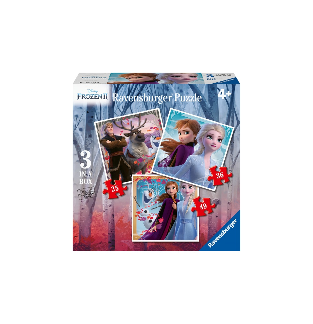 Jucarii Ravensburger - PUZZLE FROZEN II, 25/36/49 PIESE