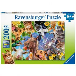 Jucarii Ravensburger?- PUZZLE PORTRET CU ANIMALE, 200 PIESE